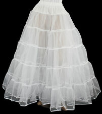 White Crinoline 4 Victorian Civil War Dress Size S/M