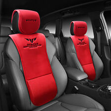 2pcs STATUS Car Waist Cushion Special Seat Cover For All Vehicle 4Seasons Red