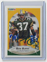 1990 PACKERS Mark Murphy signed card Fleer #177 AUTO Autographed Green Bay