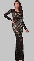 Vestido Flores Mujer Elegante Atractivo Ceremonia Noche Desnudo Chica Total Ropa