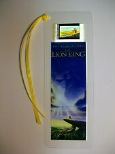 LION KING Disney Movie Memorabilia Film Cell Bookmark Rare Collectible