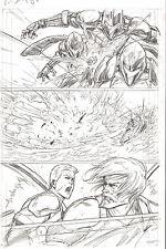 G.I. Joe #8 p 4 COBRA ORIGINAL Pencil Art Duke Shipwreck Steve Kurth