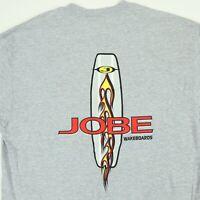 Vtg JOBE Wakeboards T-Shirt LARGE Gray Hanes 90s Deadstock NOS NWOT