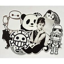 Mix Lot 60 pcs Black White Stickers Skateboard Graffiti Laptop Luggage Car Decal
