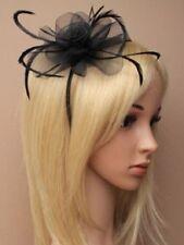 Accessoires de coiffure noir en plumes pour femme