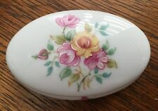 Sinclair Limoges France Edition 2002 Bone China Floral Oval Trinket Box