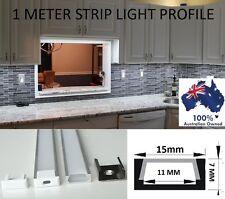 1m Aluminium Channel Profile Bar Diffuser Track for LED Strip Lights Cabinet