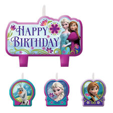 FROZEN Birthday Cake Candle Set 4 pieces Kids Party Elsa Anna Olaf