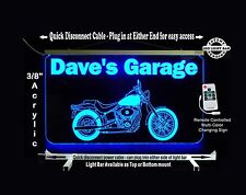 Personalized LED Sign, Man Cave, Garage, Harley Davidson Motorcycle Sign