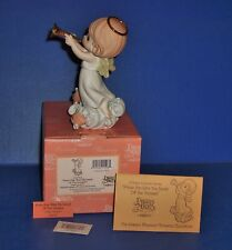 Precious Moments Rare Praise Him With The Sound Of A Trumpet Chapel Exclusive