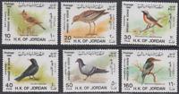 BIRD281 - JORDAN 1987 WILDLIFE FAUNA BIRDS VOGEL OISEAUX COMPL. SET SG1552-7 MNH