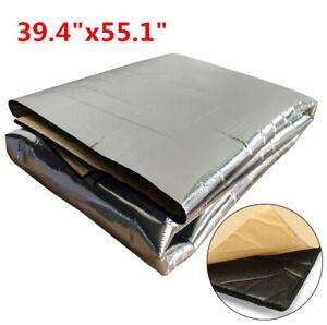 1.4*1m Aluminum Foil Car Floor Hood Mat Deadener Noise Heat Insulation Firewall