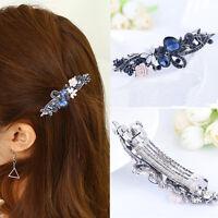 Pince à cheveux strass bleu femme en épingle à cheveux fleur barrette