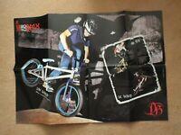 "2010 DiamondBack BMX Bike Sales Brochure / Poster - 33"" x 23"" - Del Dan Shepherd"