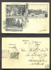 Makassar Art Nouveau Prison Celebes Indonesia stamp 1899
