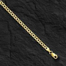 "10k Solid Gold Comfort Concave Cuban Curb Link Chain Necklace 20"" 2.8mm 3.6 grms"