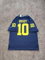 Nike Air Jordan Michigan Wolverines Tom Brady 10 Mens Football Jersey Size XL