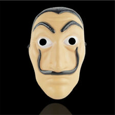 La Casa De Papel Mask Salvador Dali Plastic Adult Mask Cosplay Money Heist Props