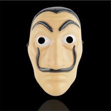 La Casa De Papel Mask Salvador Dali Plastic Adult Mask Cosplay Costume Props New