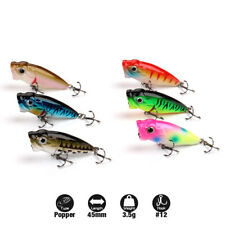 Mini Popper Fishing Lure Topwater Hard Bait Crankbaits Bass Minnow lot 1.78''