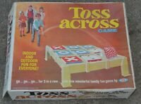 Vintage 1969 Ideal Toss Across Full Sized Game Original Box