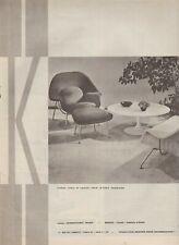 Publicité de Presse Knoll international Sièges Saarinen French Ad 1961