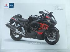 Moto Suzuki pubblicita brochure depliant motorcycles prospect HAYABUSA 1350