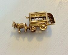 Superb Vintage Solid 9 Carat Gold Early Bovril Carriage & Horses Beautiful