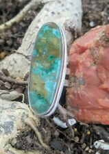 Awesome Amazonite Large Statement One-off Sterling Silver Ring sz10 .A1d