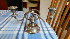 Vintage Silver Plate Candelabra + Candles Ianthe Candleabra