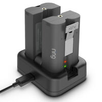Dual Charging Charger Station & Quick Charging Adapter for Ring Video Doorbell 2