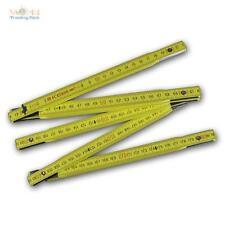 Zollstock / Gliedermaßstab 2m, 10 Holz Glieder Meterstab Maßstab Lineal metrisch