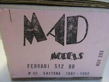 MAD MODELS 1/43 FERRARI 512 BB #65 DAYTONA 1982 1983 KIT REF.MDK003