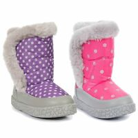 Trespass Tigan Girls Waterproof Snow Boots Breathable & Warm Pink & Purple