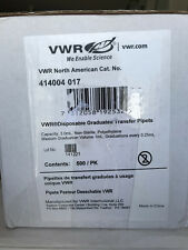 VWR Disposable Graduated Transfer Pipets 414004-017 500 PK