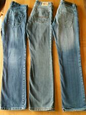 3 PAIRS OF JEANS-JOBLOT-ALL WAIST 31-LEG 32-FADED-USED-FREEPOST-GOOD CONDITION-