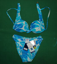 Vintage CONTE OF FLORENCE bikini sea Swim wear Suit 42 BNWT NOS floreal lycra