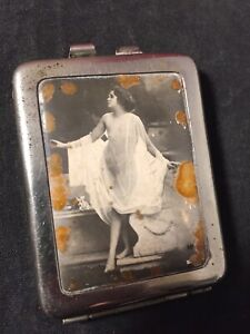 Victorian French Antique RISQUE WOMAN Deco Pinup Flapper Match Holder Strike #3