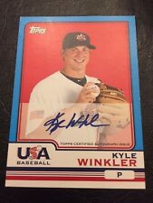 2010 Topps Chrome Team USA Autographs USA-21 Kyle Winkler Auto Baseball Card