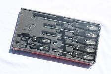 Snap On 7 Piece Rare Black Hard Handle Combination Screwdriver Set New