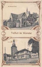 38260 - Treffurt im Werratal mit Rathaus im Wartburgkreis um 1920