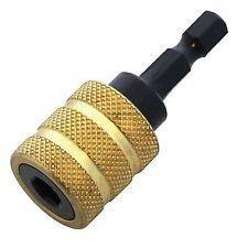 "Amtech 1/4"" Quick Change Chuck Adaptor Hex Shank Drill Driver Bits F0730 New"
