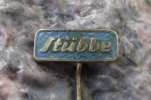 Vintage Stubbe Plastic Injection Moulding Firm Advertising Logo Pin Badge