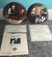 2 Norman Rockwell Porcelain plates - Grandpa's Gift and Grandma's Love Knowles
