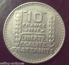 1949 France 10 Francs coin