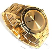MOVADO BOLD $795 MEN'S BIG 42MM GOLD STAINLESS STEEL SWISS WATCH 3600258