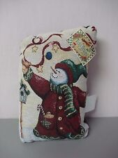 """USA Made Manual Woodworkers Howard Snow Man 9"""" x 14"""" Tapestry Door Stop #84"""