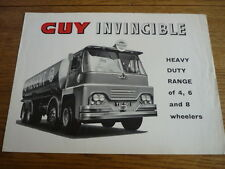 GUY INVINCIBLE 4, 6 e 8 RUOTE CAMION TRUCK SALES BROCHURE Early 60's