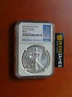 2015 W BURNISHED SILVER EAGLE NGC MS70 FIRST DAY OF ISSUE BLUE LABEL FDI