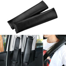 2PCS Universal Carbon Fiber Soft Cotton Car Safety Seat Belt Cover Shoulder Pads